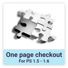 One page checkout for Prestashop 1.6