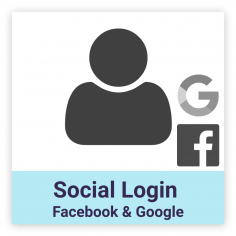 Facebook & Google social login