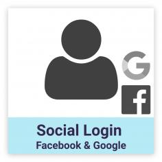 Facebook & Google social login