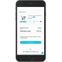 The checkout module on mobile
